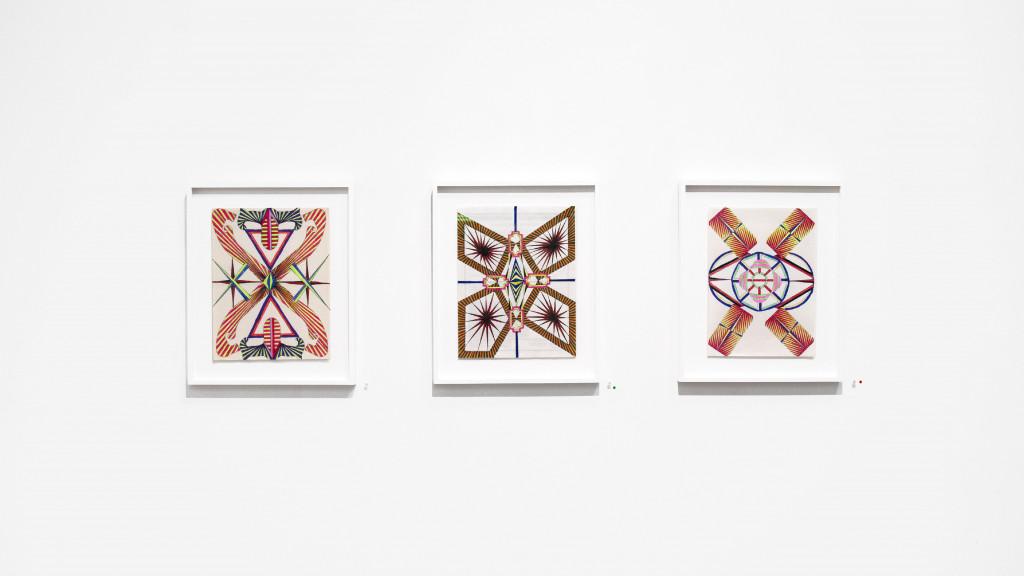vue de l'exposition *albert moser : scansions*, christian berst art brut, paris, 2020. - © christian berst art brut, christian berst — art brut