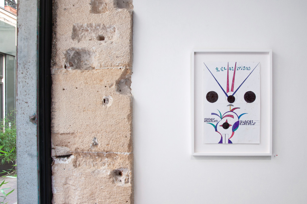 exhibition view of *anibal brizuela : orbo ab chao*, christian berst art brut, paris, 2019 - © © elena groud, christian berst — art brut