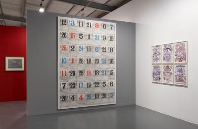 Exhibition view of *art brut - collection abcd / Bruno Decharme*, la Maison Rouge, Paris, 2015 - © © la Maison Rouge, christian berst — art brut