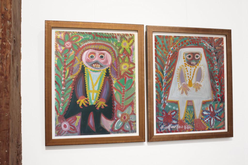 Vue de l'exposition *Rentrée Hors les Normes : découvertes et nouvelles acquisitions*, christian berst art brut, Paris, 2010. - © christian berst art brut, christian berst — art brut