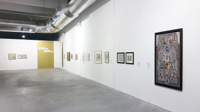 exhibition view of *art brut: a story of individual mythologies*, works from the treger-saint silvestre collection, curator: christian berst, oliva creative factory, sào joào da madeira, portugal, 2017. - © oliva creative factory, christian berst — art brut