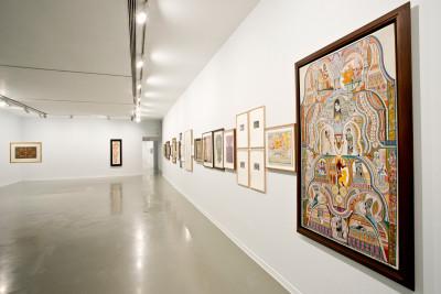 exhibition view of *el ojo electrico*,  curators : antonia gaeta and pilar soler, la casa encendida, madrid, spain, 2019. - © centro de arte oliva, christian berst — art brut