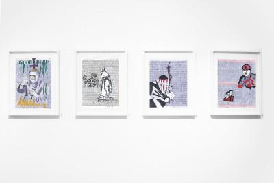 Exhibition view of *Paños : prison break*, christian berst art brut, Paris, 2014. - © christian berst art brut, christian berst — art brut