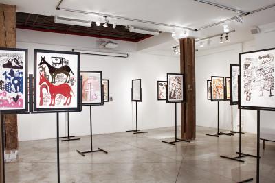 Vue de l'exposition *Carlo Zinelli : une beauté convulsive*, christian berst art brut, Paris, 2011 - © ©christian berst art brut, christian berst — art brut