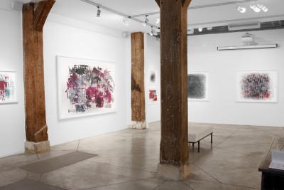 Exhibition view of *Dan Miller : graphein*, christian berst art brut, Paris, 2012. - © christian berst art brut, christian berst — art brut