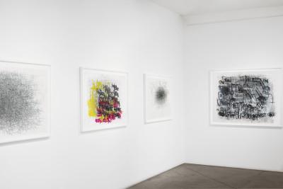 Exhibition view of *Dan Miller : graphein II*, christian berst art brut, 2014. - © christian berst art brut, christian berst — art brut