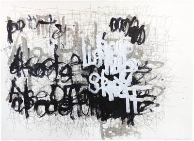 untitled (black, white gray) - © christian berst — art brut