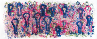 untitled (pink w/ purple light bulbs) - © christian berst — art brut