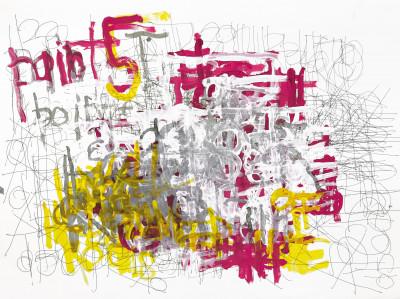 untitled (paint 5' upper left) - © christian berst — art brut