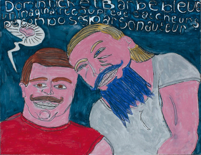 Dominique et Barbe Bleue - © christian berst — art brut