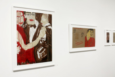 exhibition view of *dominique théate : in the mood for love*, christian berst art brut, paris, 2017. - © christian berst art brut, christian berst — art brut