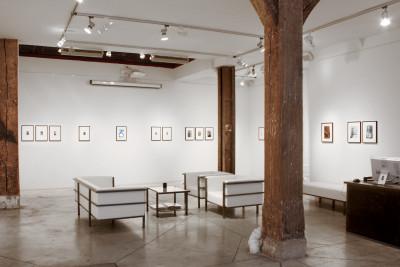 Exhibition view of *Eugene Von Bruenchenhein : american beauty*, christian berst art brut, Paris, 2013 - © ©christian berst art brut, christian berst — art brut