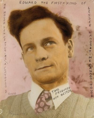 eugene von bruenchenhein, autoportrait, 1947. - © christian berst — art brut