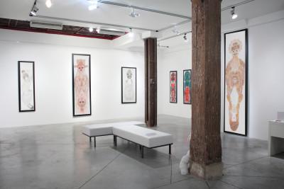 Exhibition view of *Guo Fengyi : a chinese rhapsody*, christian berst art brut, Paris, 2011. - © christian berst art brut, christian berst — art brut