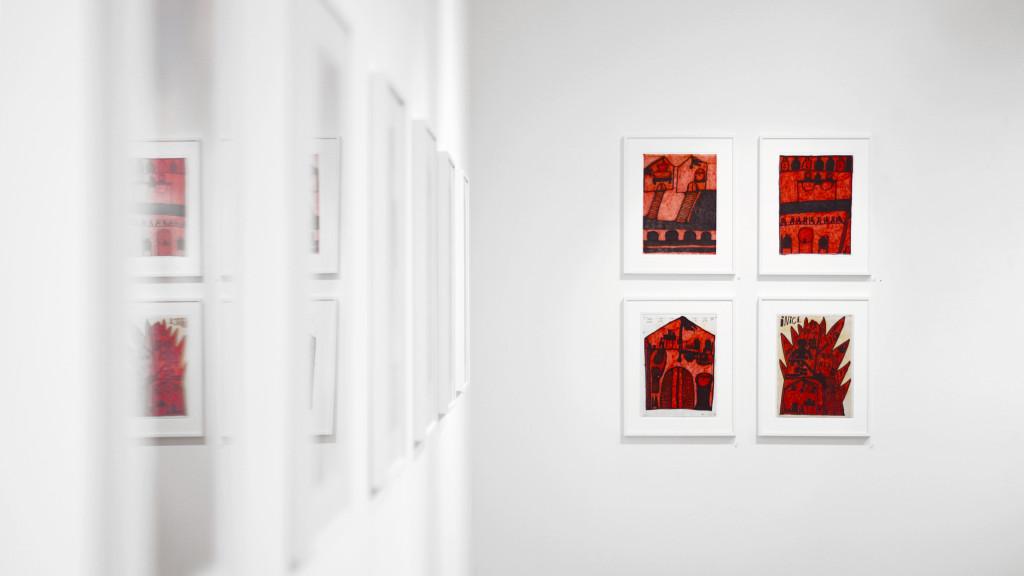 vue de l'exposition *giovanni bosco : dottore di tutto #2*, christian berst art brut, paris, 2018 - © christian berst — art brut