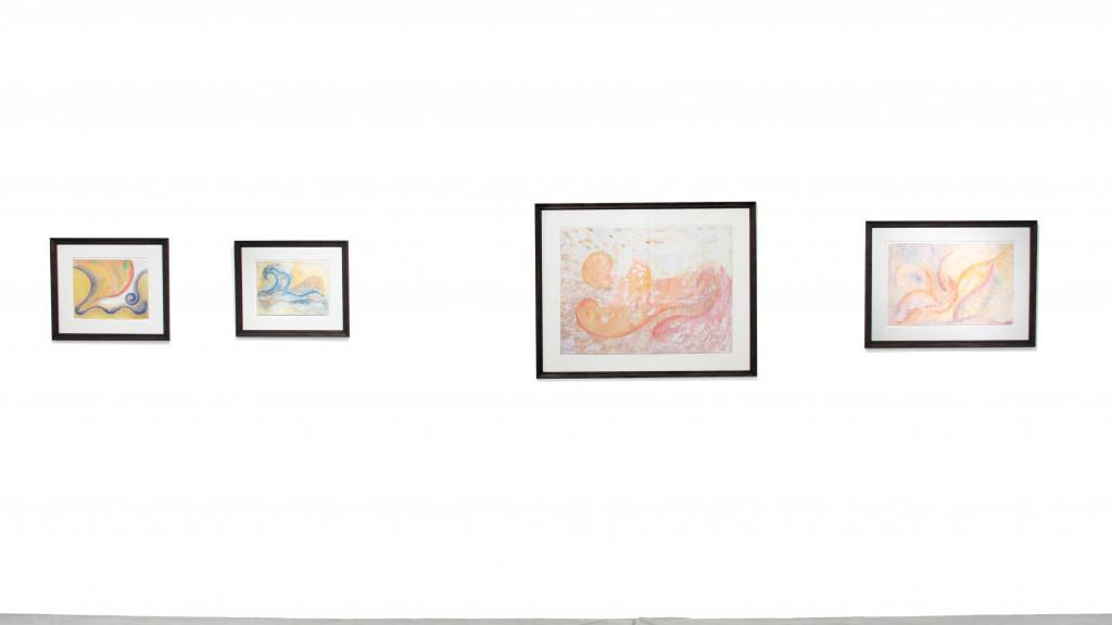 exhibition view of *henriette zéphir : a woman under the influence*, christian berst art brut, paris, 2011. - © christian berst art brut, christian berst — art brut