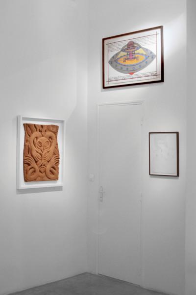 exhibition view of *preTENse*, christian berst art brut, paris, 2015. - © christian berst art brut, christian berst — art brut