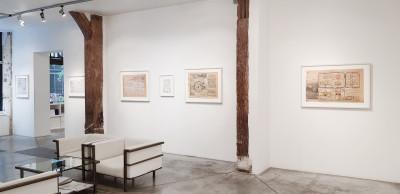 exhibition view of *jean perdrizet : deus ex machina#2*, christian berst art brut, paris, 2018. - © christian berst art brut, christian berst — art brut