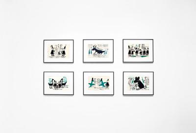Vue de l'exposition *John Ricardo Cunningham : otro mundo*, christian berst art brut, Paris, 2018. - © christian berst art brut, christian berst — art brut