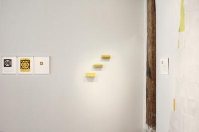 Exhibition view of *John Urho Kemp : a Bermuda triangle*, christian berst art brut, Paris, 2015. - © christian berst art brut, christian berst — art brut