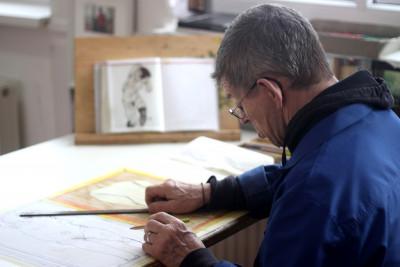 josef hofer dessinant - © © florian moser, christian berst — art brut