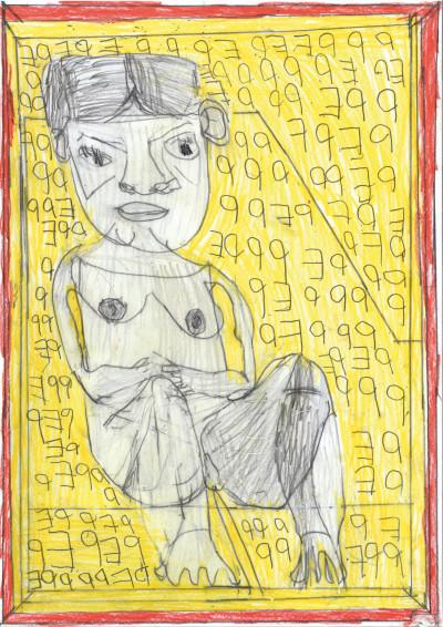 JOSEF HOFER. sans titre - © christian berst — art brut