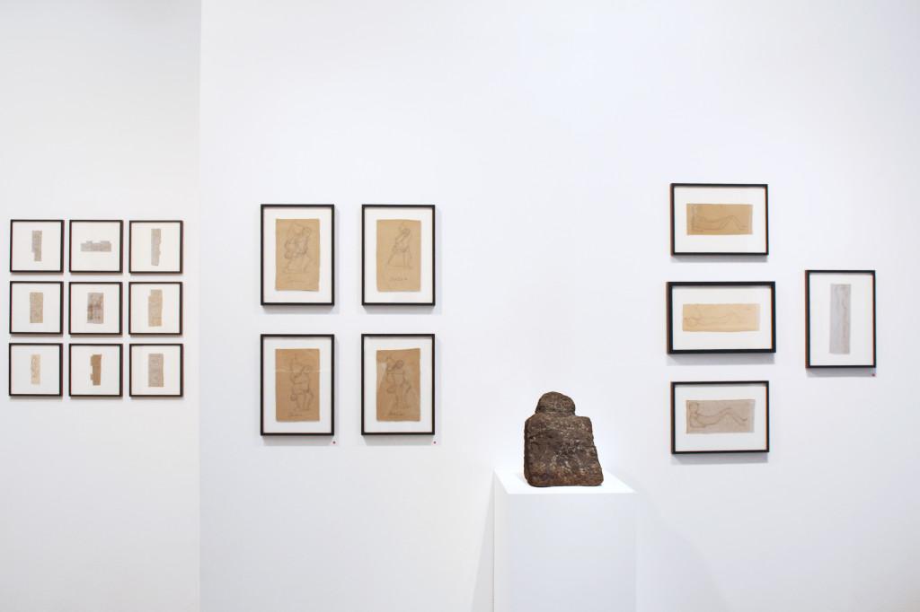 exhibition view of  *joseph barbiero, au-dessus du volcan*, christian berst art brut, paris, 2011 - © christian berst — art brut