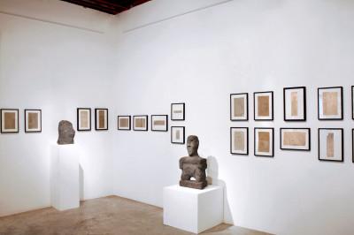 exhibition view of  *joseph barbiero, au-dessus du volcan*, christian berst art brut, paris, 2011. - © christian berst art brut, christian berst — art brut