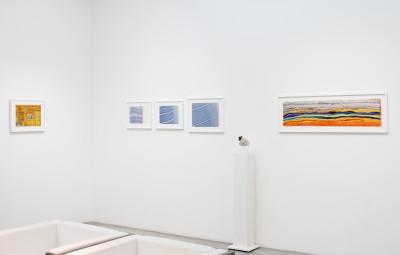 vue de l'exposition *in abstracto #2*, galerie christian berst art brut, paris, 2020. - © christian berst art brut, christian berst — art brut