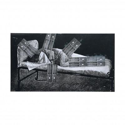 self-portait in hospital bed (wearing Pyjamas) - © christian berst — art brut