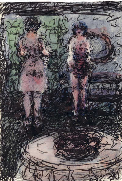 untitled (two women) - © christian berst — art brut
