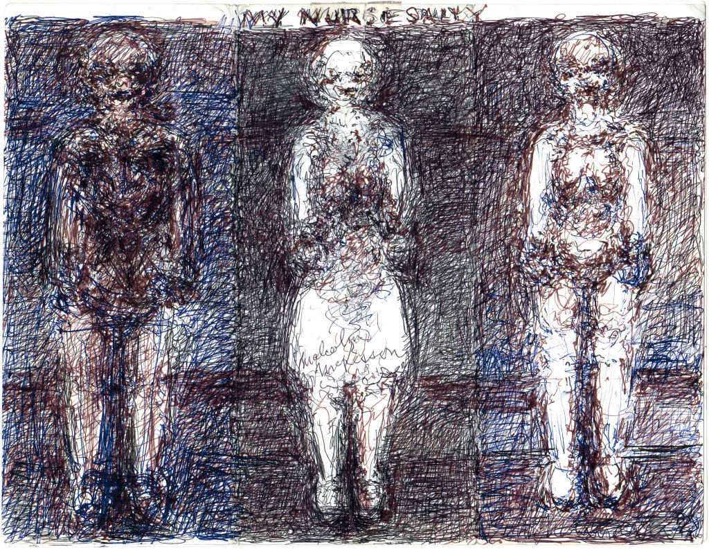my three personalities, 1996. ink on found paper, 8.5 x 11.02 in - © © christian berst art brut, christian berst — art brut