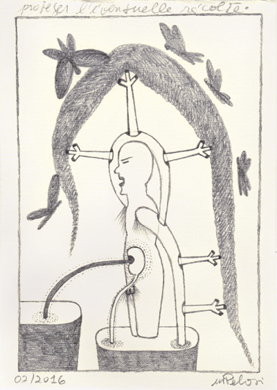 to protect the possible crop - © christian berst — art brut