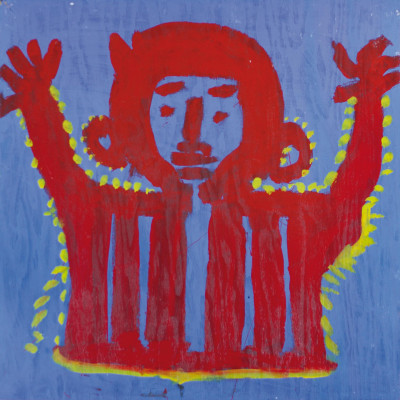 Untitled (red figure) - © christian berst — art brut
