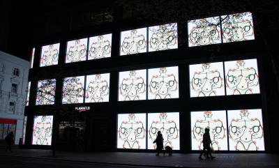 vue de l'installation vidéo *W1 Curates x Talk Art*, 2021, Londres - © © W1 Curates x Talk Art, christian berst — art brut