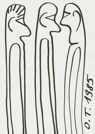 Drei Menschen - © christian berst — art brut