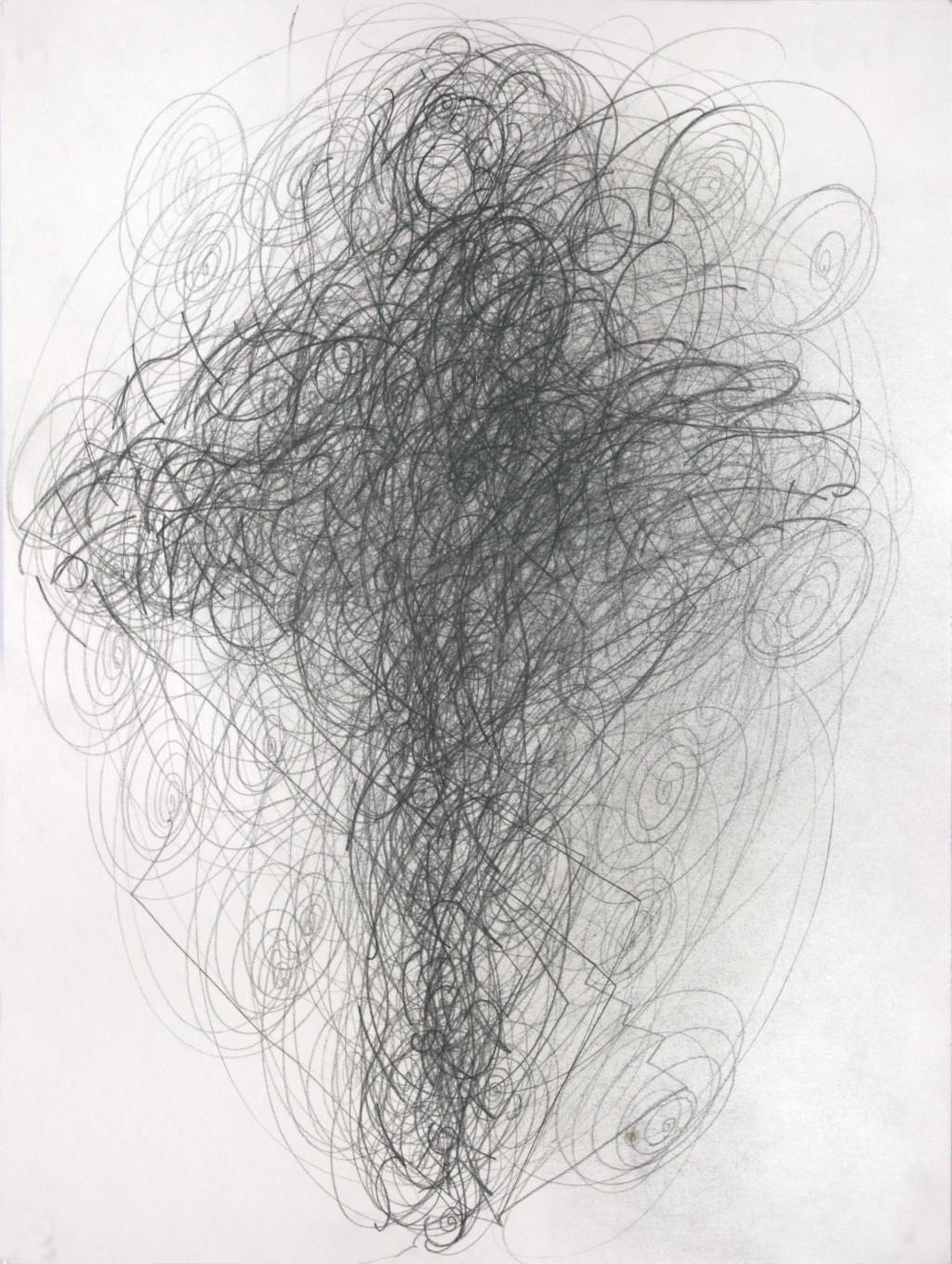 Mutation 6/14 recto-verso, circa 2006. graphite on drawing paper, 15.75 x 11.81 in - © christian berst art brut, christian berst — art brut
