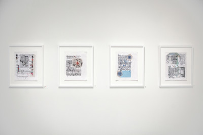 exhibition view of *pepe gaitán, epiphany*, christian berst art brut, paris, 2014. - © christian berst art brut, christian berst — art brut