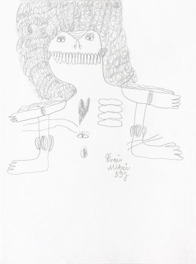 Fraü Mitzi, 59 j. - © christian berst — art brut