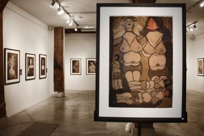 Exhibition view of *Pietro Ghizzardhi : glowing coals*, christian berst art brut, Paris, 2011. - © christian berst art brut, christian berst — art brut