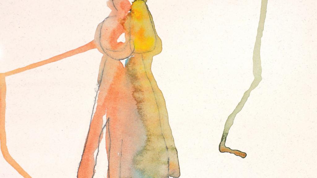 sans titre, 2009, aquarelle sur papier , 29.5 x 20.8 cm - © christian berst — art brut