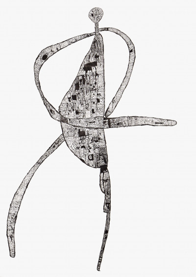 dot and line - © christian berst — art brut