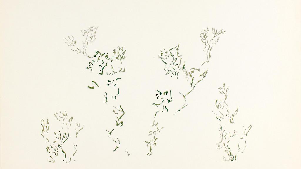 sans titre, 1976. encre de chine sur papier, 24 x 32 cm - © christian berst — art brut