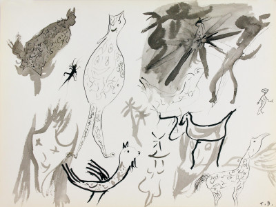sans titre, 1966. encre de chine sur papier, 24 x 31.9 cm - © christian berst — art brut