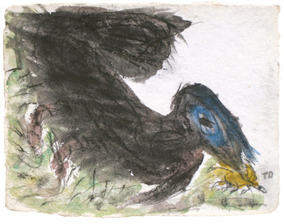 Bird Will Catch a Bug, Catching the Bug for Survival - © christian berst — art brut