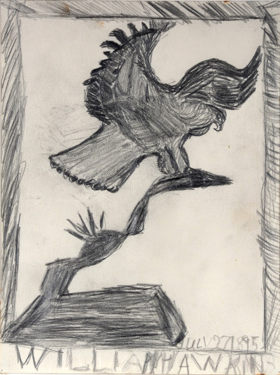 untitled (eagle on cactus) - © christian berst — art brut