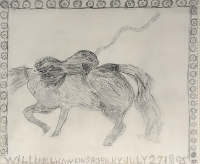 untitled (lion attacking a horse) - © christian berst — art brut