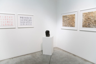 Exhibition view of *Japan brut : the moon, the sun, yamanami*, christian berst art brut, Paris, 2019. - © christian berst art brut, photo: Elena Groud, christian berst — art brut