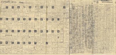 détail de jean perdrizet, *sans titre (esperanto sidéral)*, 1962. technique mixte sur papier, 52 x 215.3 cm. - © christian berst art brut, christian berst — art brut