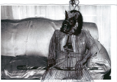 josé manuel egea, *untitled*, 2018. acrylic marker on photographic printing, 8.27 x 11.69 in - © christian berst art brut, christian berst — art brut